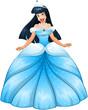Asian Princess in Blue Dress