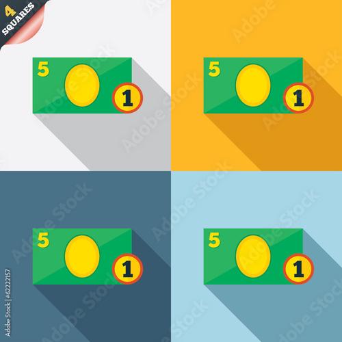 Cash sign icon. Money symbol. Coin.