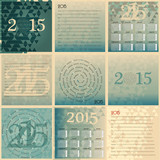 Set of 2015 european year calendar