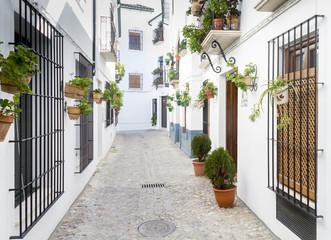 Calle típica de un pueblo de Andalucía