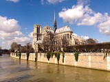 Notre Dame Paris on sunny winter day