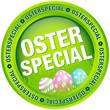 """Button """"Osterspecial"""" Ostereier grün/pastell"""