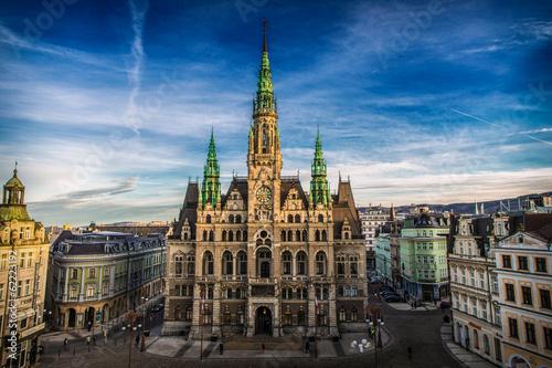 Leinwandbild Motiv Liberec Town Hall in the Czech Republic