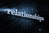 Relationships against futuristic black and blue background