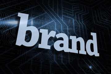 Brand against futuristic black and blue background