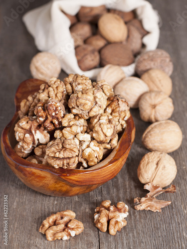 Walnuts whole and peeled.