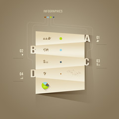 Origami paper cuts Infographics, for business design