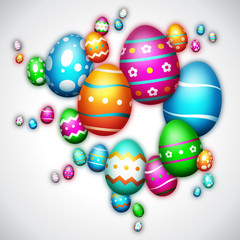 Joyeuses Pâques - Happy Easter - Illustration vectorielle