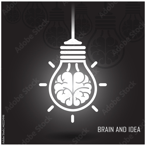 Creative brain Idea concept on dark background
