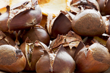 Tasty roasted chestnuts