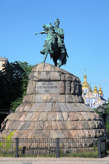 Monument of Bohdan Khmelnytsky in Kiev, Ukraine