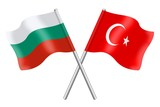 Flags: Bulgaria and Turkey