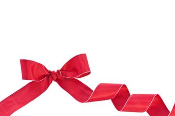 Rotes Schleifenband