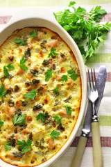 Chicken breast and cauliflower casserole