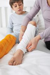 Wadenwickel für krankes Kind