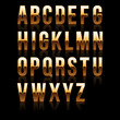 Gold Font Set 1. File contains graphic style.