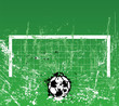 Soccer / Football goal, free copy space, vector