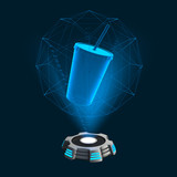 Hologramm Icon Softdrink