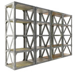 shelves isolated