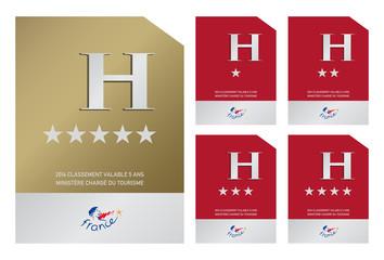 Plaques d'hôtels - 1 à 5 étoiles