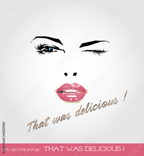 eps Vector image:That was delicious ! © atticdesignjp