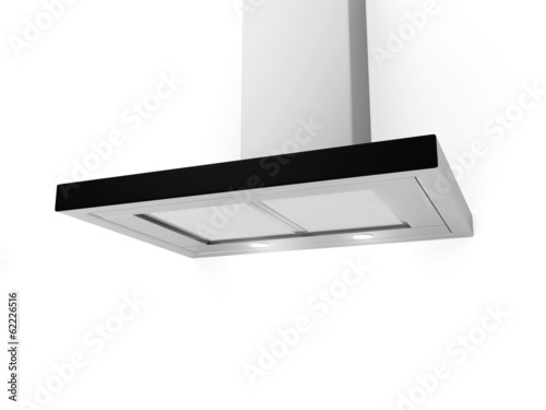 Modern cooker hood isolated on white background