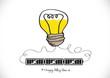 Idea concept light bulb vector illustration