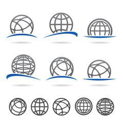 Globe set. Vector