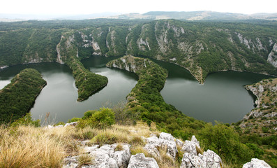 Canyon on Uvac lake  in Serbia
