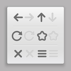 Web navigation buttons clip-art. Design elements