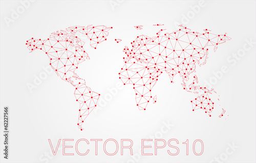 red map abstract isolated on a white backgrounds