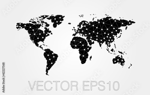 black map abstract isolated on a white backgrounds