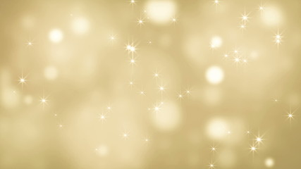 Abstract bokeh golden glitter loop