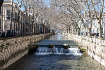 Canal de la fontaine de Nimes