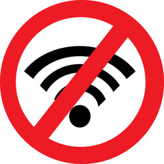 No Wifi sign. Wi-fi symbol.
