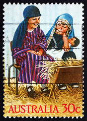 Postage stamp Australia 1986 Holy Family