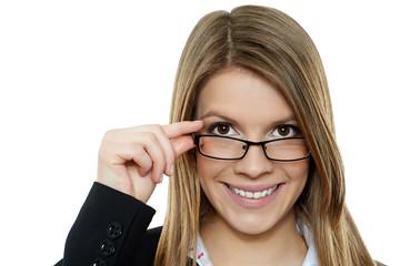 Geschäftsfrau mit Brille 2