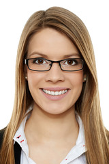Geschäftsfrau mit Brille 4