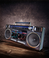 retro boombox stereo