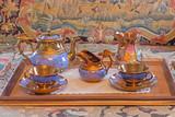 Tea service porcelain from 19. cent. in palace Saint Anton.