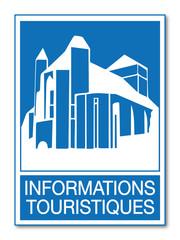 Panneau informations touristiques.
