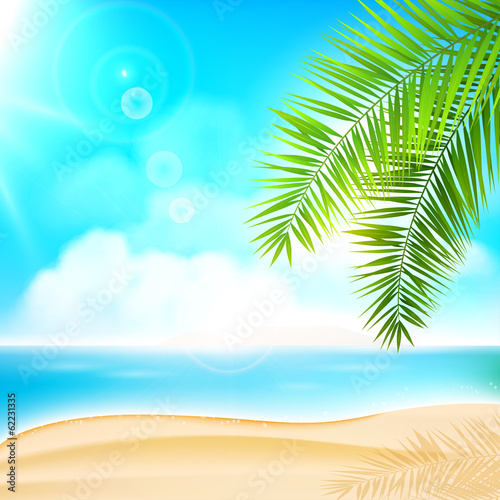 Summer beach holiday background
