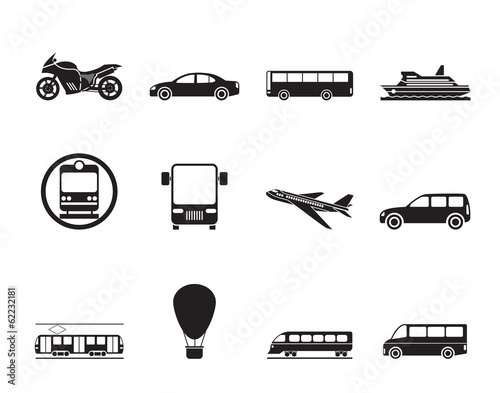 Silhouette Travel and transportation of people icons
