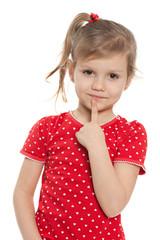 Clever preschool girl