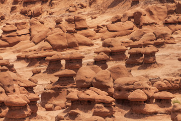 Mushroon Shaped Hoodoos Goblin Valley State Park Utah