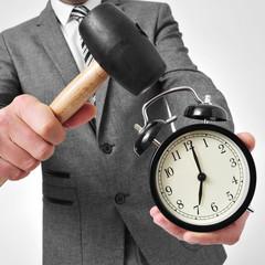 broking an alarm clock