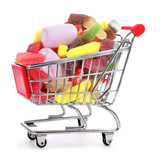 shopping cart full of candies