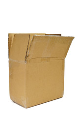 open brown cardboard box