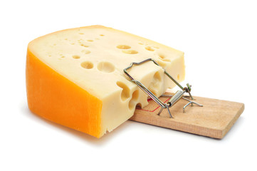 mousetrap with a too large piece of cheese