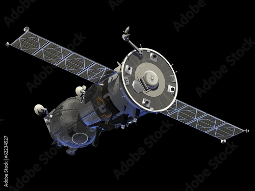 "Leinwanddruck Bild Spacecraft  ""Soyuz"""